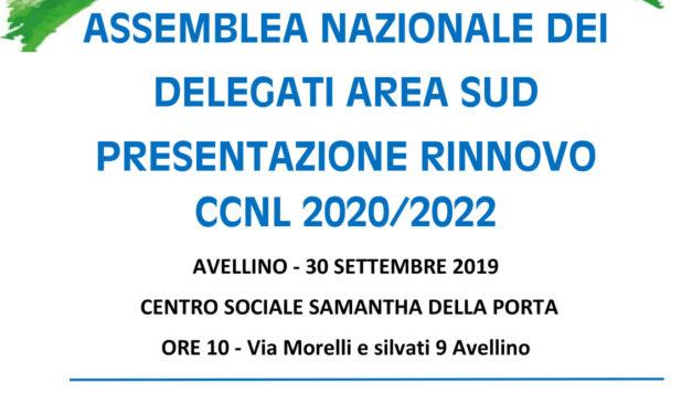 ASSEMBLEA NAZIONALE DEI DELEGATI AREA SUD PRESENTAZIONE RINNOVO CCNL 2020/2022