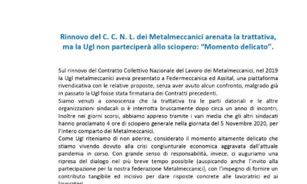 Volantino su Trattativa CCNL Metalmeccanici