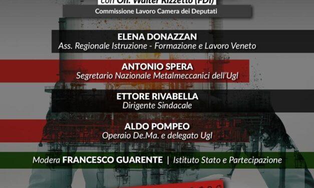"""WEBINAR : """"CRISI INDUSTRIALI E DELOCALIZZAZIONE, QUALI ALTERNATIVE PER  IL FUTURO DELL'INDUSTRIA ITALIANA"""""""